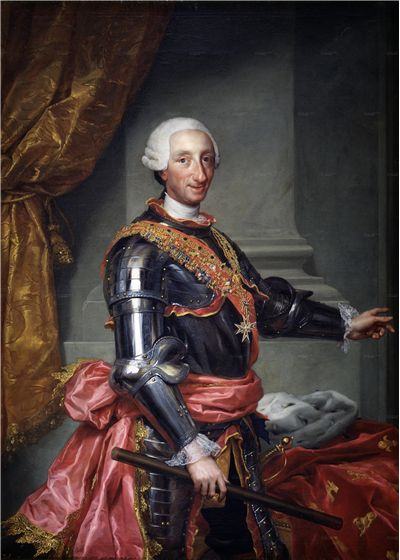 Picture Of Charles 3 Of Spain In A Suit Of Armor