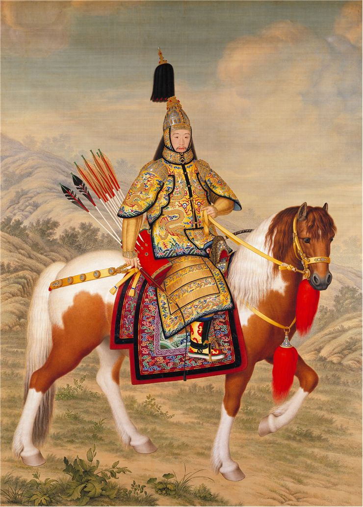 Picture Of Chinese Ceremonial Armour On Horseback