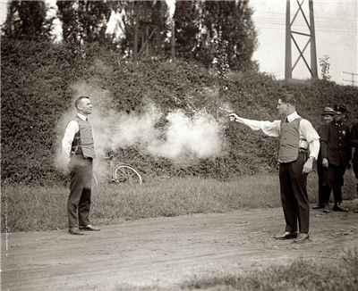 Picture Of Testing Bulletproof Vest 1923