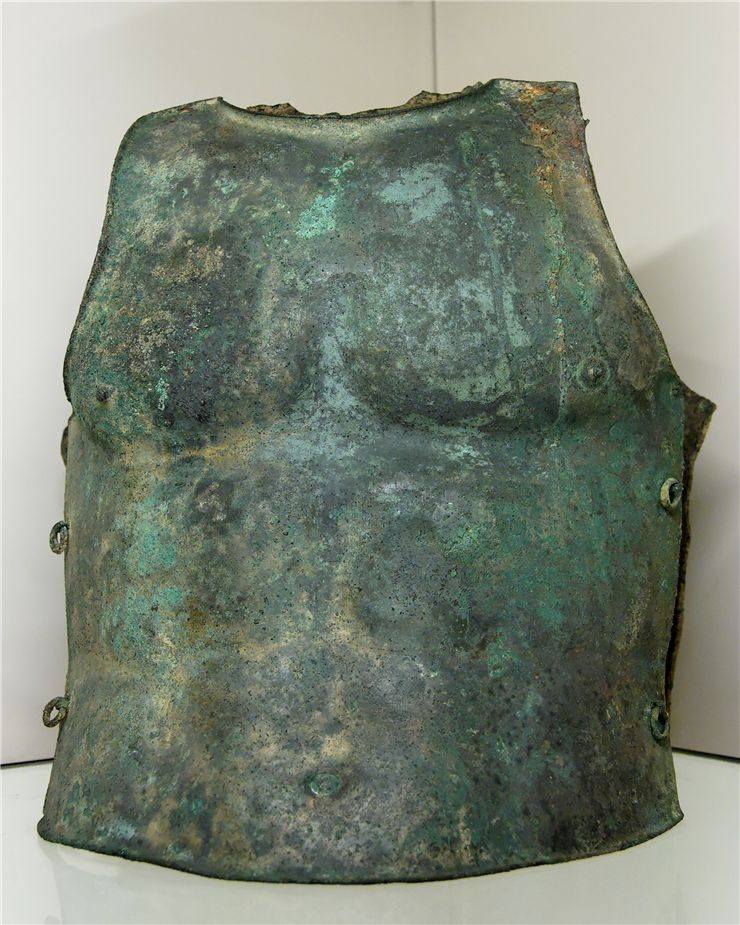 Picture Of Two Parts Bronze Cuirass