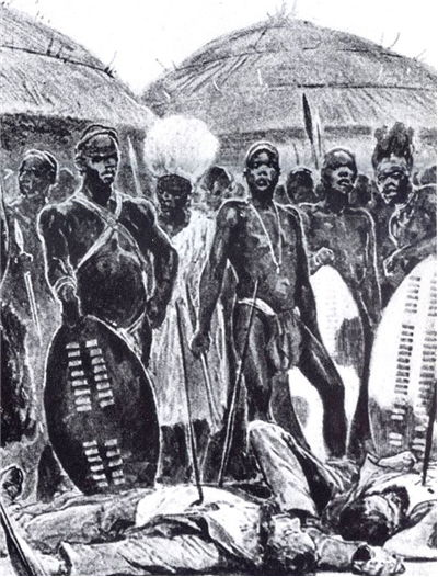 Picture Of Zulu Warriors With Shields